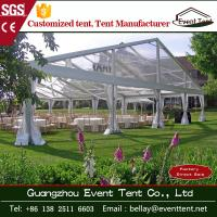Wholesale waterproof clear roof wedding Party tent with Hop dip Galvanized Steel 20x30m from china suppliers