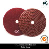 Quality velcro backed wet stone diamond polishing pads/marble abrasive tools for sale