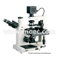 Wholesale 400X Plan Phase Contrast  Inverted Optical Microscope Halogen Lamp Rohs CE A14.0202 from china suppliers