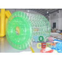 Wholesale 1.00mm PVC TPU Green / White Inflatable Walking Ball Water Roller For Fun from china suppliers