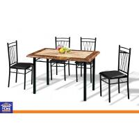 Wholesale Stone Design Priting Small Dinning Table and Chairs , Custom Dining Table and 4 Chairs from china suppliers