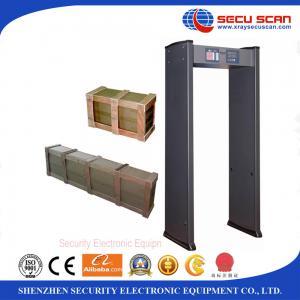 Wholesale Adjustable Sensitivity metal walk through gate , Shock proof multi zone door frame metal detector from china suppliers