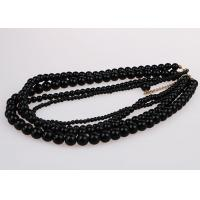 Quality Fashion Graduated Costume Pearl Necklace Accessories Four Strand Black Color for sale