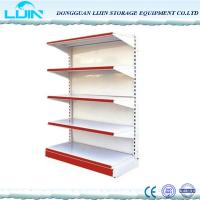 Quality Double / Single Sided Convenience Store Shelving , Metal Grocery Display Racks for sale