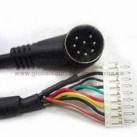 Wholesale Mini DIN Plug Connector to DIN, RCA, USB, BNC, DB9, RJ45 Adapter Wire and Cable Assembly from china suppliers