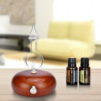 Quality 50ml Essential Aroma Wooden Glass Oil Nebulizer Diffuser for sale