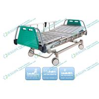 Wholesale 3 Function ICU Rolling Electric Hospital Bed With Detachable Aluminium Guardrails from china suppliers