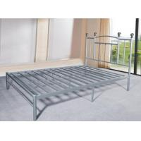 Wholesale Heavy Duty Silver Metal Single Bed Frame Metal Bedroom Furniture Powder Coating from china suppliers