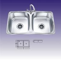 Wholesale Double Rectangular Bowl Undermount Stainless Steel Kitchen Sinks With Faucet from china suppliers