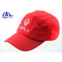 Fashion Red Polymesh Cool Outdoor Sports Baseball Caps With Reflective Printing Logo