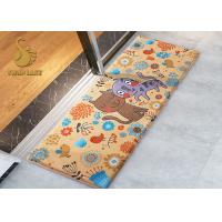 Wholesale Customized Polyester Bedroom Area Rugs / Carpet With Anti - Slip PVC Dots Felt Backing from china suppliers