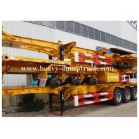Wholesale Deck commercial flatbed trailers 40ft flat for transport containers , bulk cargo with warranty from china suppliers