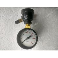 "Quality 2 inch Black Steel Case Air Test Gauge with 3/4"" Bell Reducer Brass Material for sale"