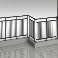 Wholesale Zinc steel balcony guardrail- 4 plus double cross bar.-30*40 with 22 round tube from china suppliers