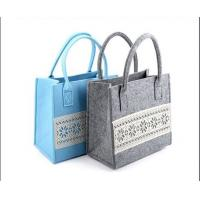 Wholesale factory price high quality felt shopping  women tote bag with many kinds of colors from china suppliers