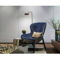 Wholesale Discover Hotel Comfortable Wooden Leisure Living room Blue Lounge Chair from china suppliers