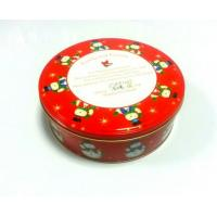 Wholesale Cylinder Tin Cookie Container For Christmas Holiday With Lable On Bottom from china suppliers