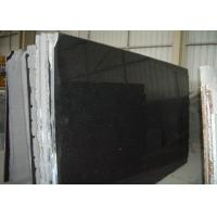 Wholesale Pure Black Galaxy Granite Slab , Granite Worktop Slab High Hardness 2.8 Kg/Cm3 from china suppliers
