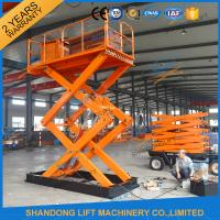 Wholesale 3T 5M Scissor Cargo Lift Hydraulic Scissor Lift Table With Safety Control Box CE from china suppliers