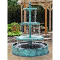 Wholesale White Marble Outdoor Stone 2 Tiers Water Fountain from china suppliers