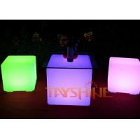 Wholesale Outside LED Patio Furniture Rechargeable , Light Up Bar Tables And Chairs from china suppliers
