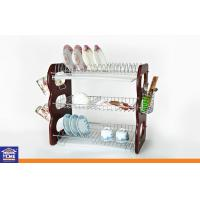 Wholesale IKEA Kitchenwares 3 Layer Dish Rack / Chrome Wire / Cup and Chopstick Rack and 3PCS Water Tray from china suppliers