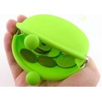 Wholesale Green Silicone Wallets With Kiss Lock, Custom Logo 90 * 72 * 40mm from china suppliers