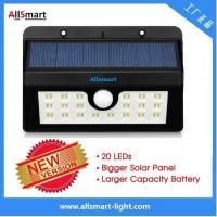 Wholesale 20LED 440lumens 4W motion sensor solar wall light with mounting bracket triangular shape Li-ion battery solar lamp from china suppliers