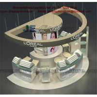 Wholesale L'OREAL Shopping Mall Kiosk with Counters in grey color and tempered glass showcase from china suppliers