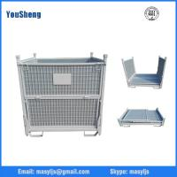 Quality Folding and stacking metal stillage box for sale