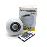 Wholesale Wireless Bluetooth 6W LED Speaker Bulb Audio E27 Colorful Music Playing Lighting With 24 Keys IR Remote Controller from china suppliers