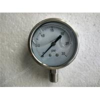 Buy cheap 2.5 inch All Stainless Steel Lower Entry  Liquid Filled Manometer Pressure Gauge Glycerine Filled from wholesalers