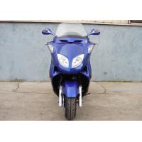 Wholesale Two Headlights Blue Adult Gas Scooter , 150cc Motor Scooter With 2 Seats Real Leather from china suppliers