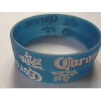 Buy cheap logo debossed with filling color silicone bracelet manufacturer from wholesalers