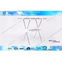 Wholesale X-type Folding Clothing Rack Coat Rack for garment standing hanging clothes rack from china suppliers