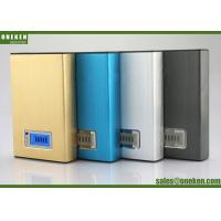 Wholesale 12000mah LCD External LCD Display Power Bank Blue / Gold For Mobile Charging from china suppliers