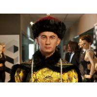 Wholesale Silicone And Resin Life Size Wax Figures / Celebrity Wax Statues Chinese Men from china suppliers