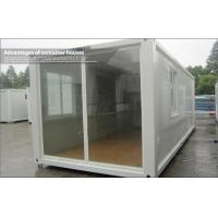 Wholesale EPS Sandwich Panel 20ft Glass Prefab Homes , Modular Container House For Shelter from china suppliers