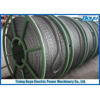 Wholesale Overhead Cable Stringing 28mm Pilot Wire / Pilot Rope Galvanized Steel Wire Rope from china suppliers