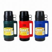Buy cheap Vacuum Flasks, Keeps Liquid Hot/Cold in Hours, with Plastic Body, Glass-liner  from wholesalers