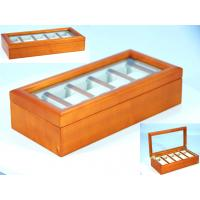Wholesale Solid maple orange painting Wood watch box for 5 watches from china suppliers
