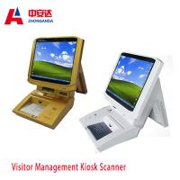 Buy cheap Muti-color Portable Desktop Visitor Management Kiosk Touch Screen Bank Payment Kiosks ZA-VM202 from wholesalers