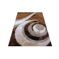 Wholesale Hand-tufted Contemporary Area Rug, Brown Polyester Patterned Shaggy Rugs from china suppliers