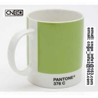 Wholesale Export PANTONE colors fashion cup 376C.numbers wholesale the ceramic mug from china suppliers