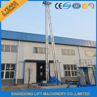 Wholesale Hydraulic Mobile Telescopic Ladder Aerial Work Platform Lift With 150kgs Loading 19m Height from china suppliers