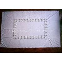 Wholesale Oblong Shape White Hand Crochet Table Cover , Cotton Fabric Crochet Table Mat from china suppliers