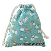 Wholesale Fashion Jewellery string bag,Cosmetic bag,Promotion bag  MH-2119 blue flower from china suppliers