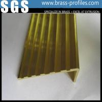 Wholesale Brass Anti-slip Strip for Stairs / Brass Non-slip Nosing Sheet from china suppliers