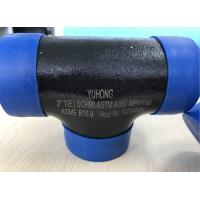 """Wholesale ASTM A860 WPHY60 / WPHY42 / WPHY52 /WPHY65/WPHY70 WPHY80 EQUAL TEE 2"""" SCH80 BW ASME B16.9 Black Surface OR Color Coating from china suppliers"""
