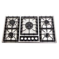 Wholesale 201 Stainless Steel 5 Burner Gas Cooktop With Enamel Cap / Metal Knob from china suppliers